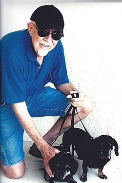 Joe Ardourel and Dachshunds